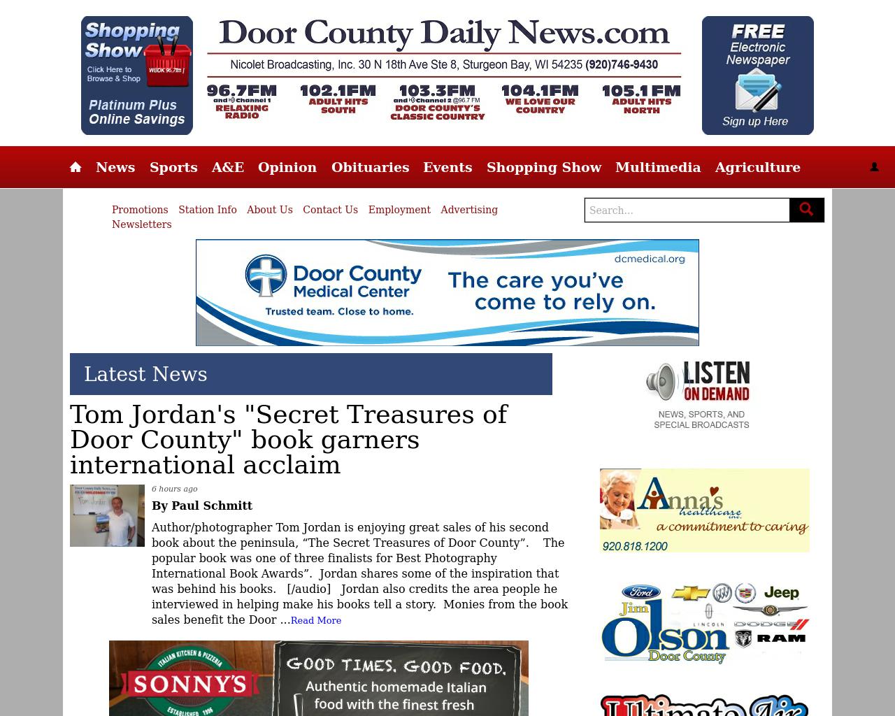 Doorcountydailynews.com-Advertising-Reviews-Pricing