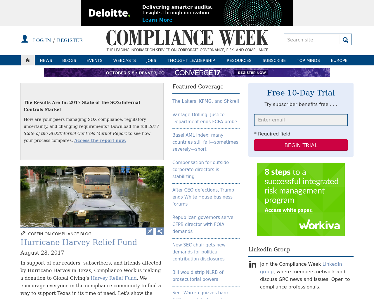 Compliance-Week-Advertising-Reviews-Pricing