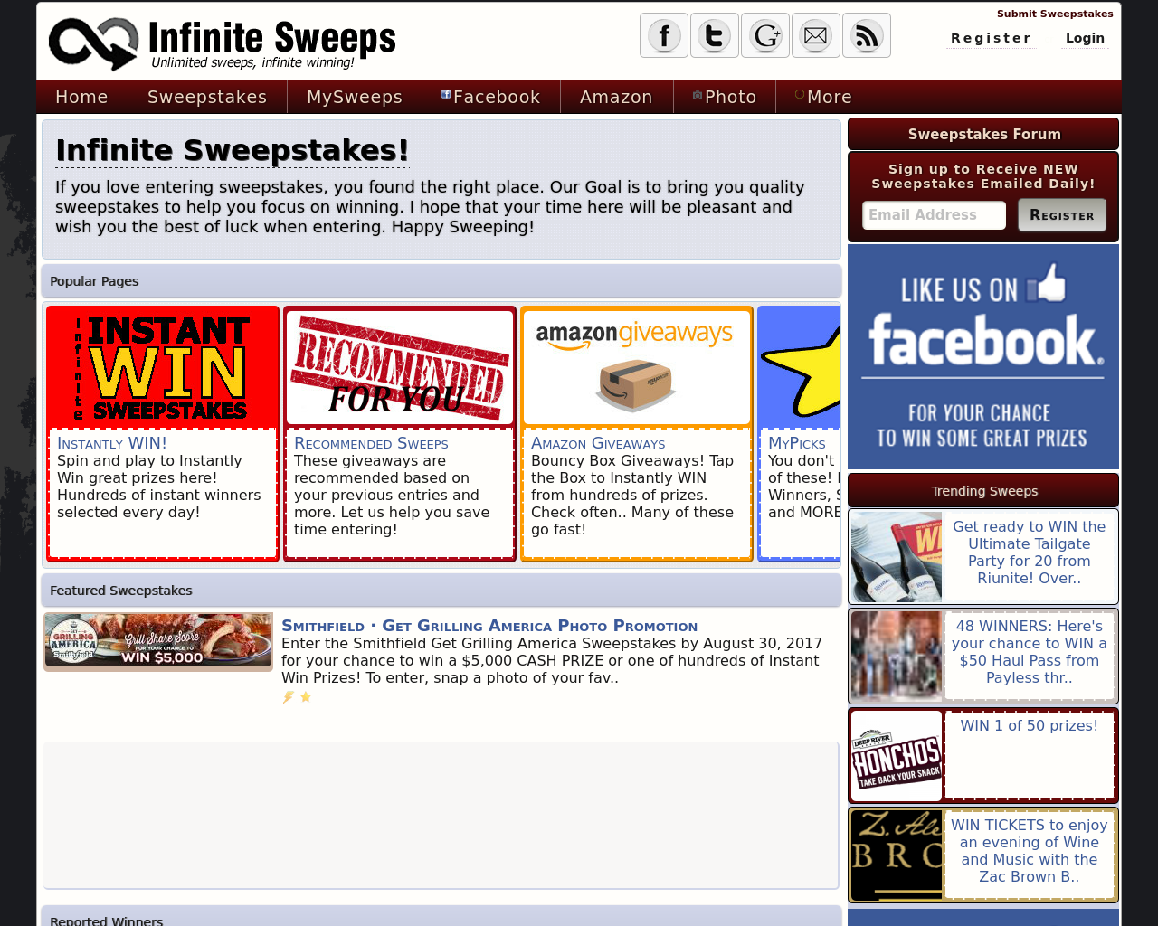 InfiniteSweeps.com-Advertising-Reviews-Pricing